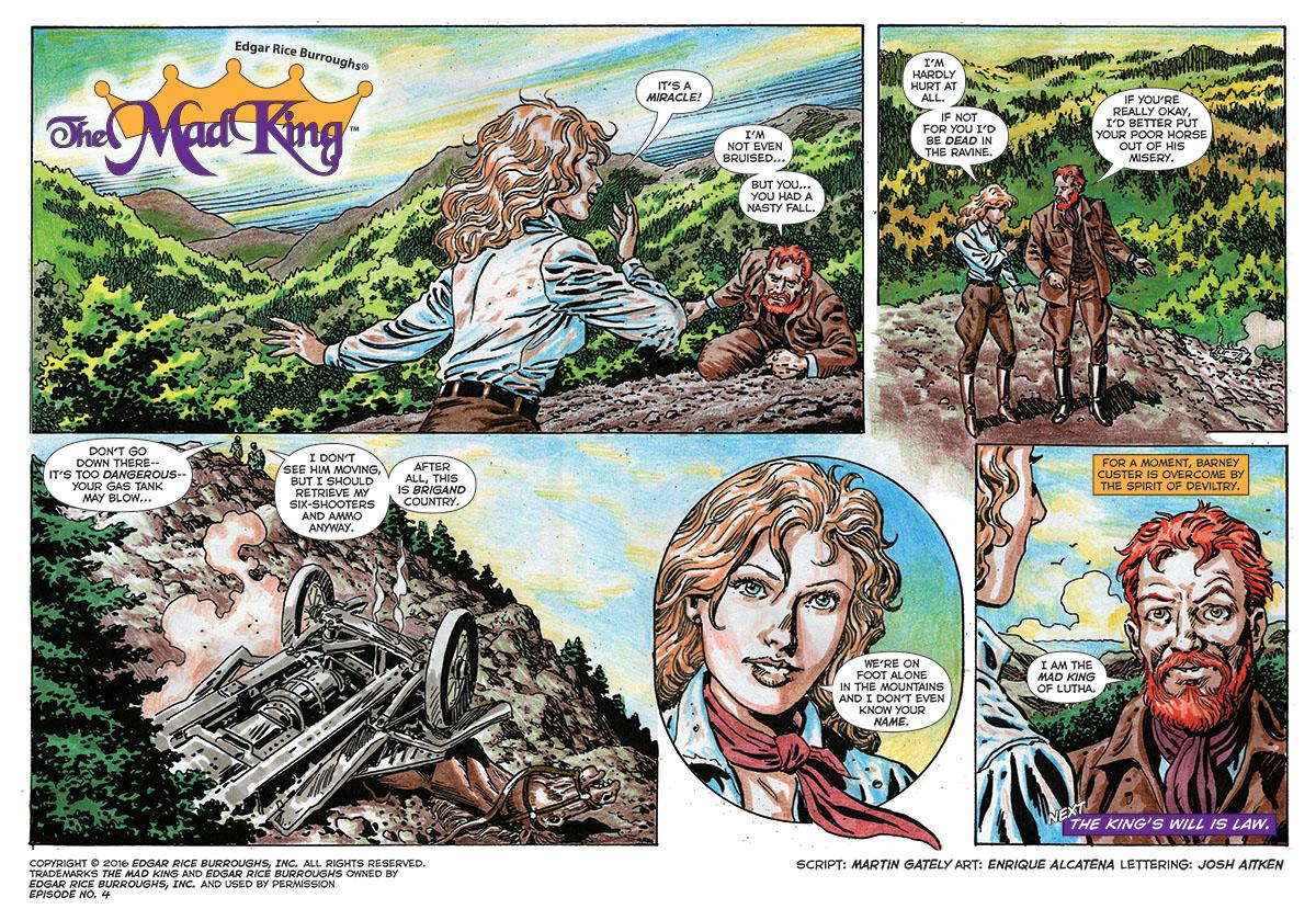 free web comic sample from edgar rice burroughs